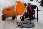 Вакуумная установка УВМ-1. Исполнение вакуумной емкости на колесах