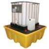 Поддон - контейнер для 1 или 2х IBC кубов, c решеткой (штабелируемый)