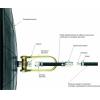 Пневмозаглушка масло-бензостойкая, герметизатор для труб от 1200 до 1600 мм, штуцер 9 мм, рукав подачи воздуха 5 м
